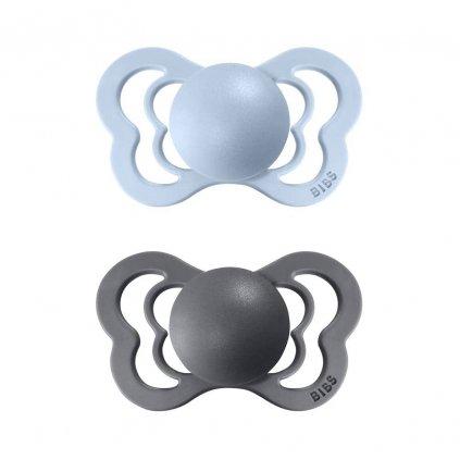 bibs couture kaucukove ortodonticke dudliky baby blue iron