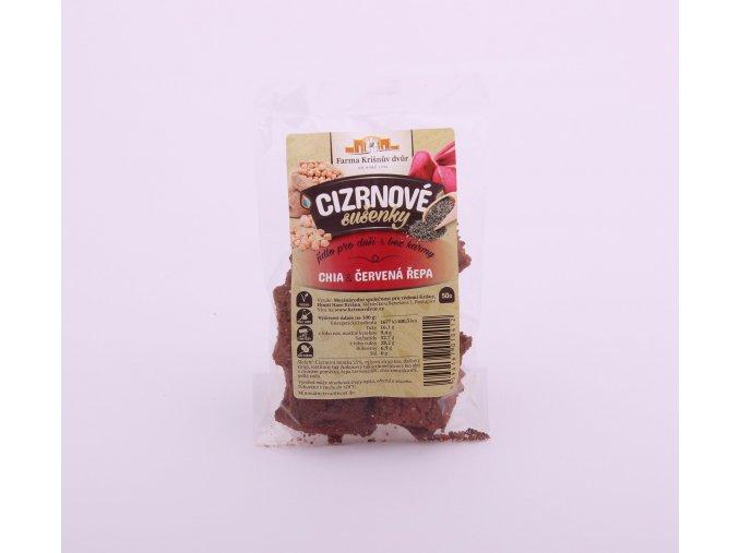 Cizrnové sušenky - Chia a červená řepa 50g