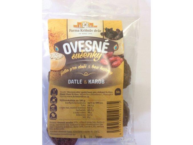 Celozrnné sušenky ovesné - Datle a karob 50g