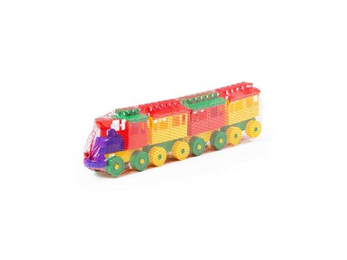 Stavebnice Lokomotiva s 3 vagónky