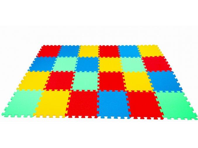 Pěnové puzzle koberec 24 dílků