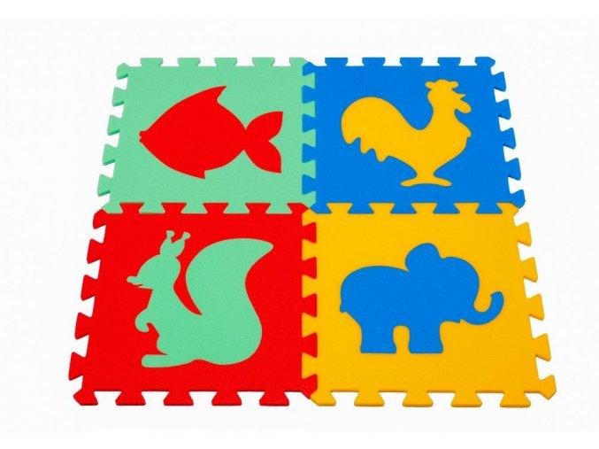 Pěnový koberec puzzle Zvířátka VI