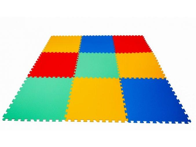 Pěnové puzzle koberec 9 velkých dílků tl.16mm