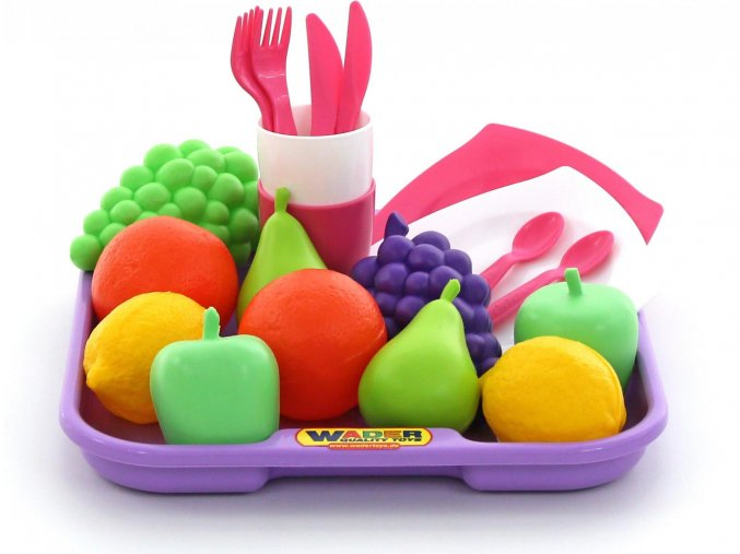 Polesie Sada potravin č.2 s nádobím a tácem (21 dílů)