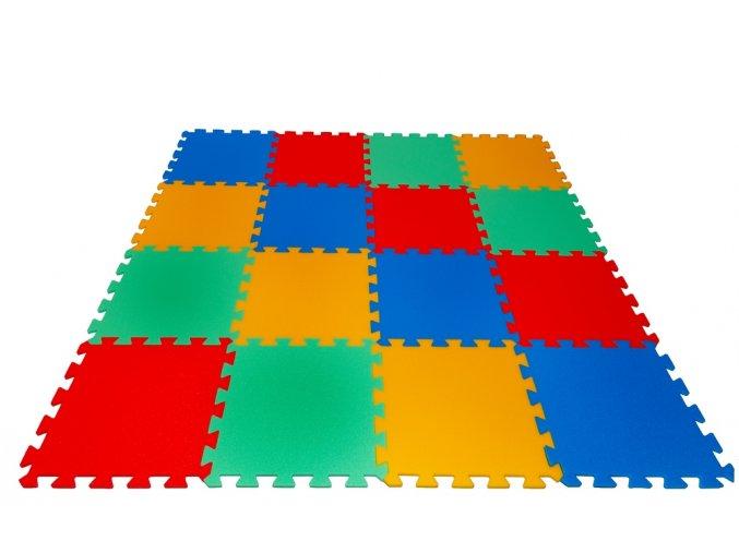 Pěnové puzzle koberec 16 dílků tl.16mm
