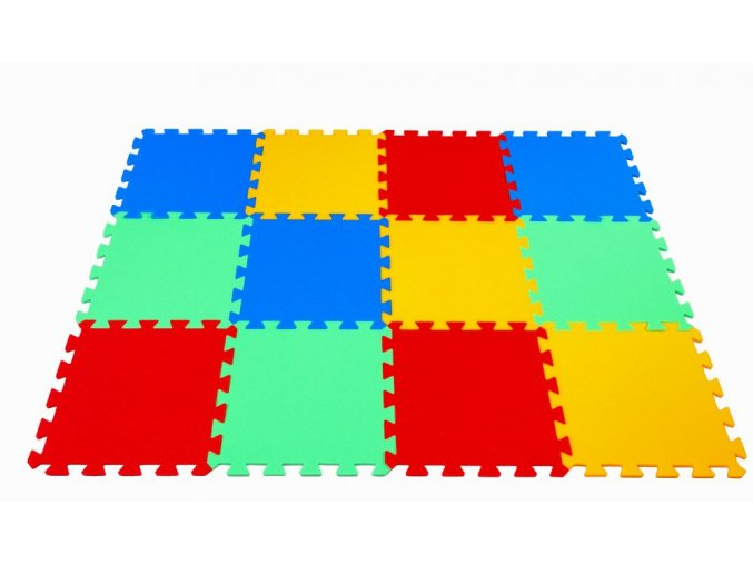 Pěnové puzzle koberec 12 dílků