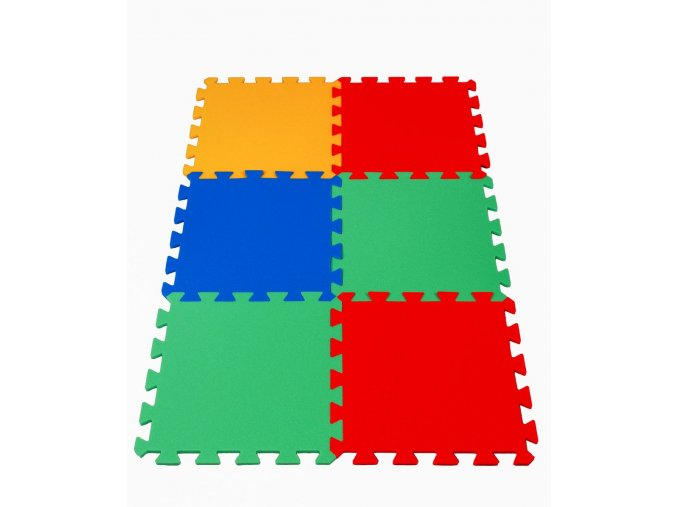 Pěnové puzzle koberec 6 dílků tl.16mm