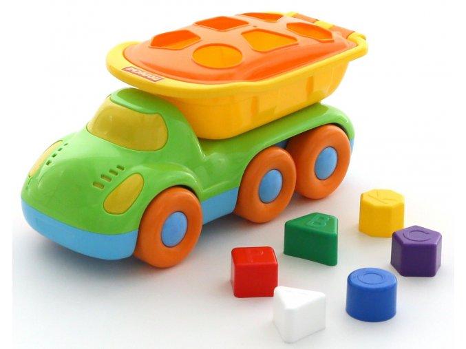 Didaktické auto Kamarád sklápečka vkládačka