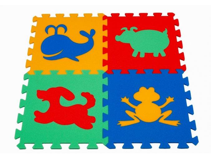 Pěnový koberec puzzle Zvířátka I tl.16mm