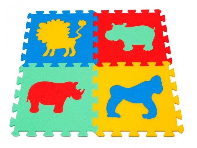 Pěnový koberec puzzle Zvířátka II tl.16mm