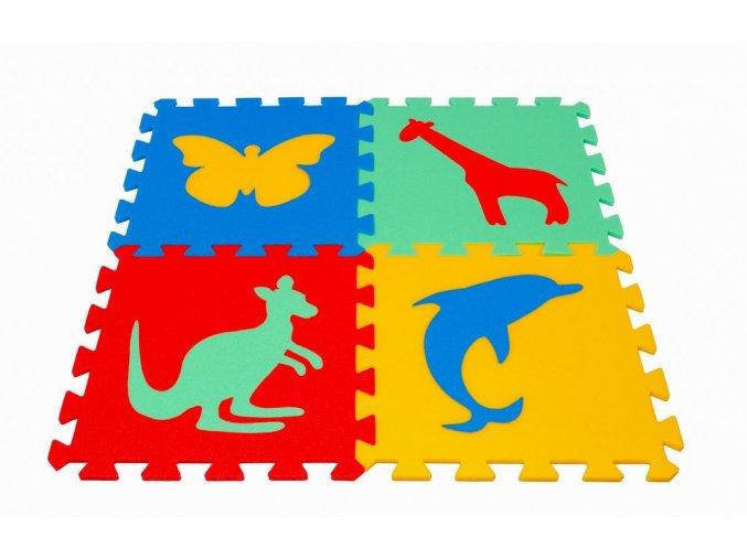 Pěnový koberec puzzle Zvířátka III