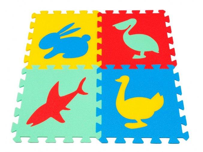 Pěnový koberec puzzle Zvířátka IV