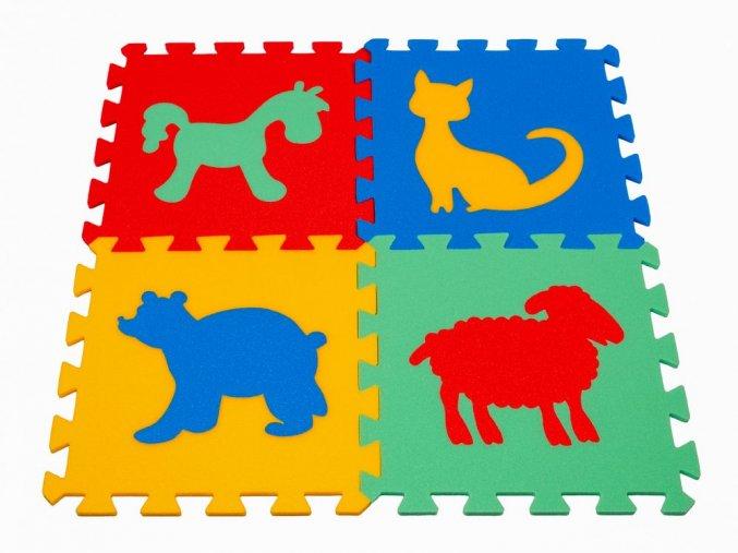 Pěnový koberec puzzle Zvířátka V