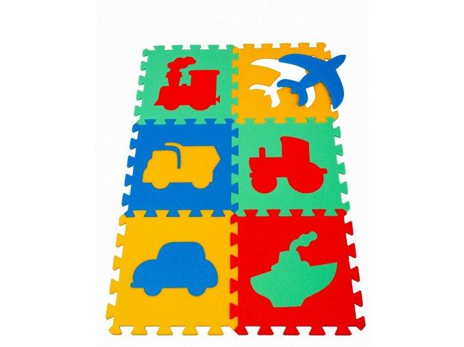 Pěnový koberec puzzle Doprava