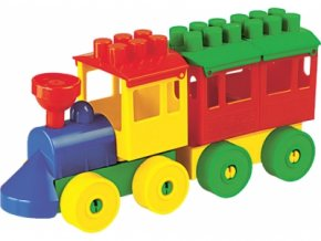 Stavebnice Lokomotiva s vagónkem