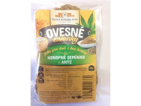 Celozrnné sušenky ovesné - Konopné semínko a anýz 50g