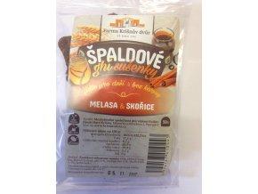 Celozrnné sušenky špaldové ghí - Melasa a skořice 50g