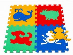 Pěnový koberec puzzle Zvířátka I