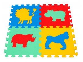 Pěnový koberec puzzle Zvířátka II