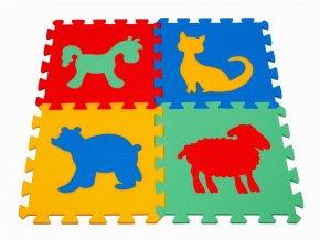 Pěnový koberec puzzle Zvířátka V tl.16mm