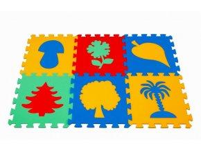 Pěnový koberec puzzle Rostliny