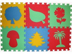 Pěnový koberec puzzle Rostliny tl.16mm