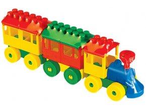 Stavebnice Lokomotiva s 2 vagónky