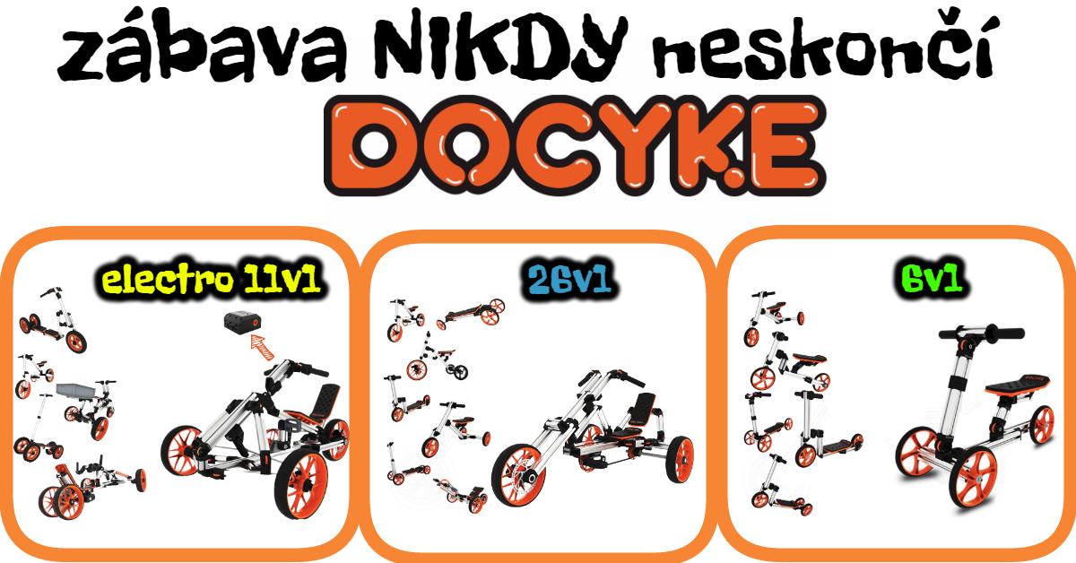 DOCYKE detské vozidlo na vlastnú montáž