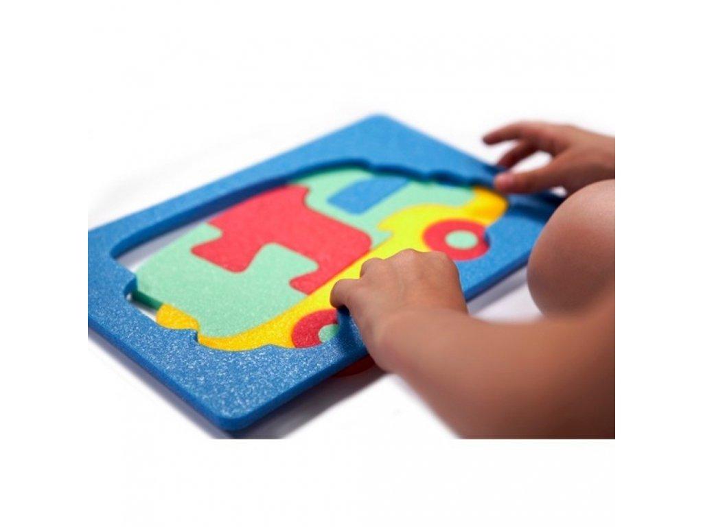 Penová stavebnica Kamión 2D malypretekar liesek penové hračky didaktické hračky