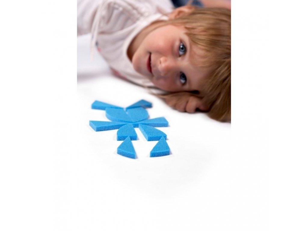 Penový Tangram Kruh didaktické hry hlavolamy rozvoj dieťaťa malypretekar penové hračky náučné hračky
