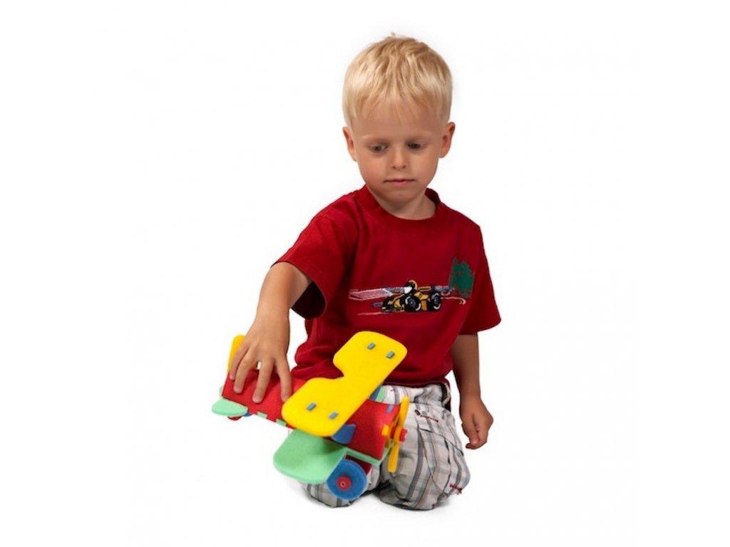 Penová stavebnica Lietadlo 3D malypretekar liesek orava hracky penove hračky didaktická hra vzdelávacie stavebnice