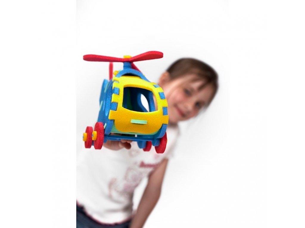 Penová stavebnica Vrtuľník 3D malypretekar liesek orava hracky penove hračky didakticke hry stavebnice