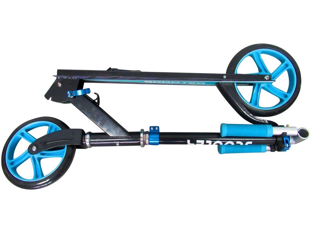 Kolobežka H4 Scooter modrá červená športové potreby pre deti ložiská malypretekar nozna brzda hracky hrackaren (13)