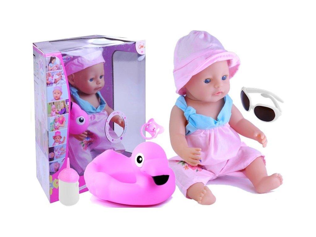 Interaktívna bábika BOBA maly pretekar pije rozpráva plače chichoce sa pobyhuje očami doplnky na pláž 9