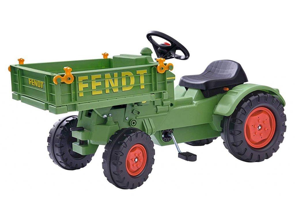 Šliapací traktor Fendt Tool Carrier malypretekar hracky liesek pedalovy traktor pre deti s reťazovým pohonom (1)