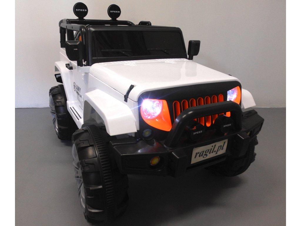 Elektrické auto JEEP GIGANT biely 4x4 malypretekar