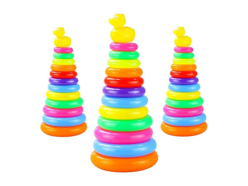 Dúhová pyramída z kruhov kačička do vone kruhy podľa farby (1)