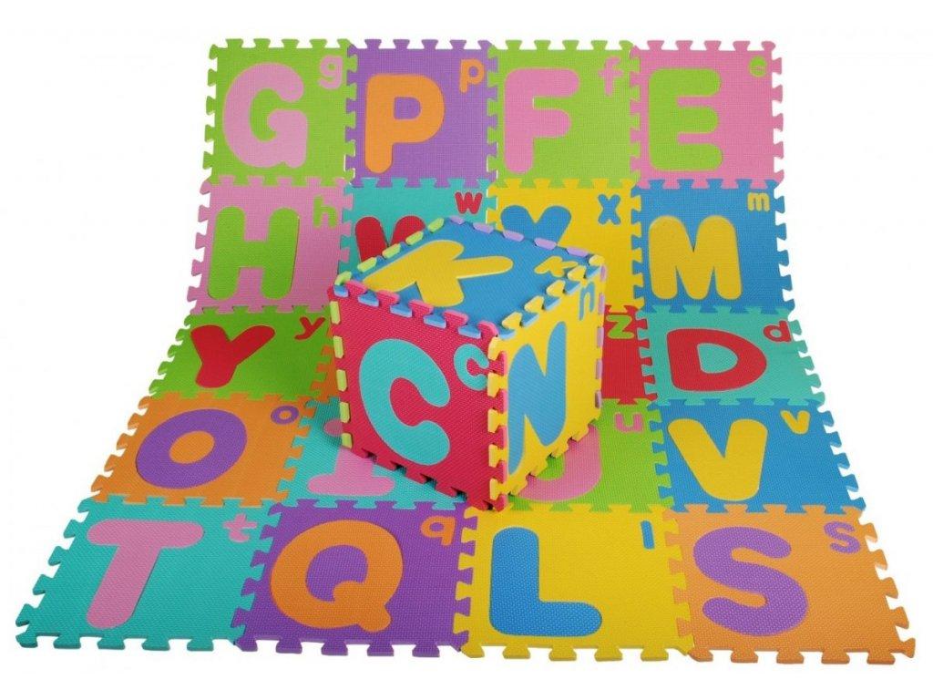 Penové puzzle koberec 26 ks puzzle EVA penový koberec abeceda malé a veľké písmená abecedy