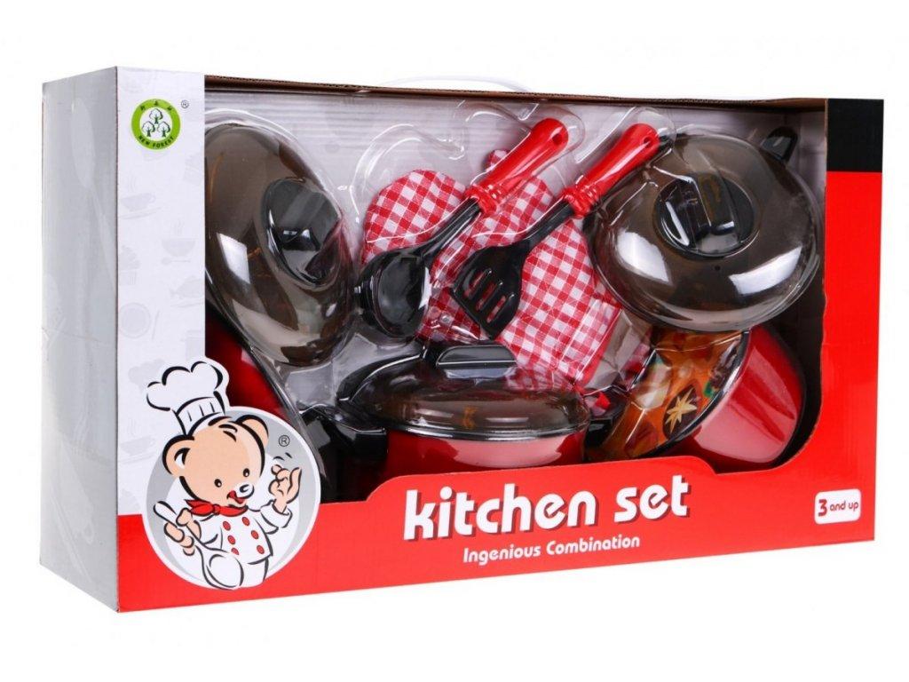 Kuchynská sada na varenie a pečenie vyprážanie malypretekar liesek hračky do drevenej detskej kuchyne (7)