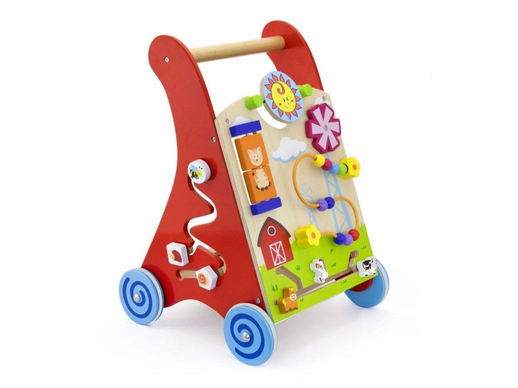 Drevené edukačné chodítko VIGA TOYS s hracím panelom malypretekar (2)