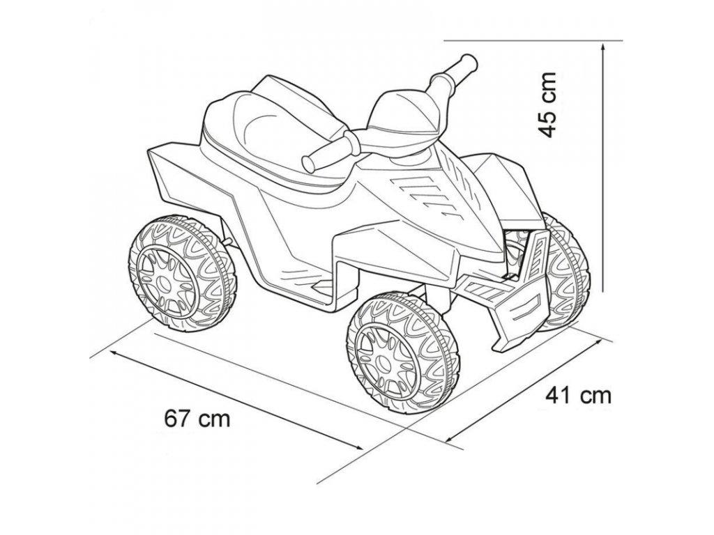 Feber Elektrická štvorkolka Pinc Racy 6V malypretekar hračky elektricke vozidla (4)