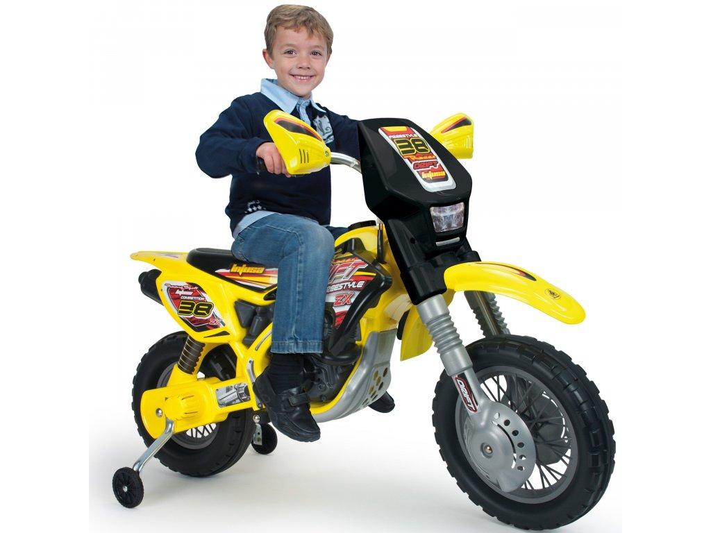 Injusa Elektrická motorka Cross Drift Thunder Max 12 V malypretekar liesek orava hračka elektrická motorka elektrick=e autíčka (1)