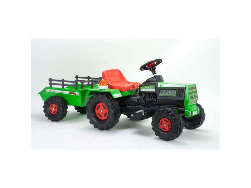 Injusa Elektrický traktor Basic 6V malypretekar zelený traktor s prívesom s vlečkou hračky (6)