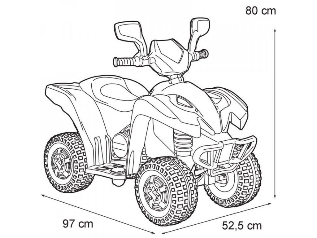 Feber Elektrická štvorkolka Freeride 6V malypretekar elekrická štvorkolka do 30 kg štvorkolka na batériu 6V (4)