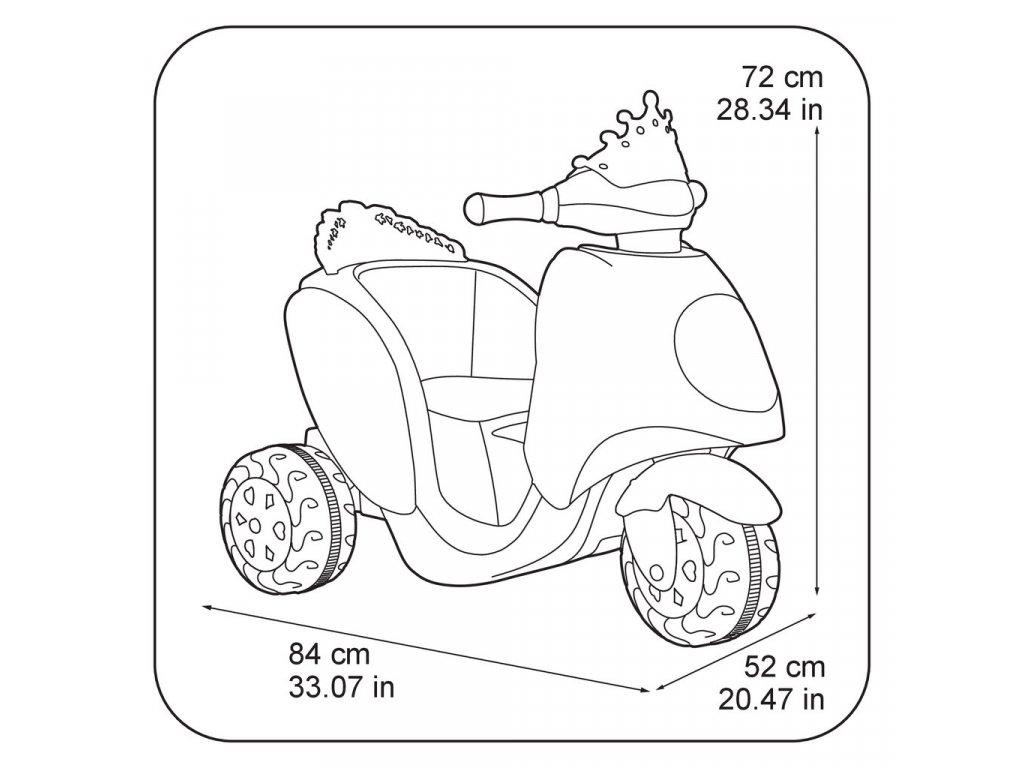 Feber Elektrická motorka Frozen II 6V malypretekar elektrická trojkolka motorka pre dievčatá Anna Elza Olaf Frezen II (4)