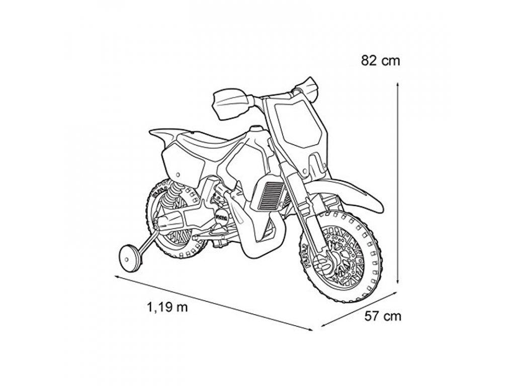 Feber Motor Na Akumulator 6V Rider Cross malypretekar zelená cross terénna motorka (3)
