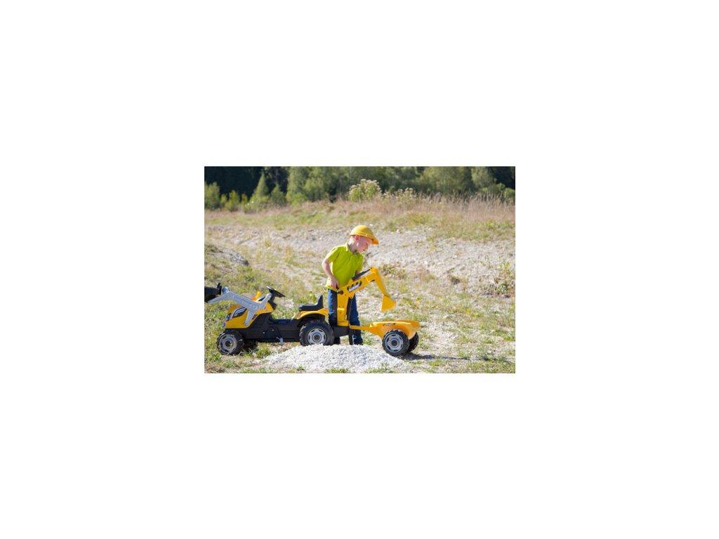 Smoby Traktor na pedále MAX nakladač bager príves malypretekar (14)