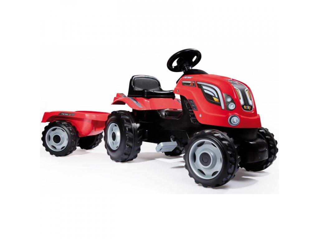 Smoby Traktor na pedále Farmer XL malypretekar liesek šliapací traktor (2)