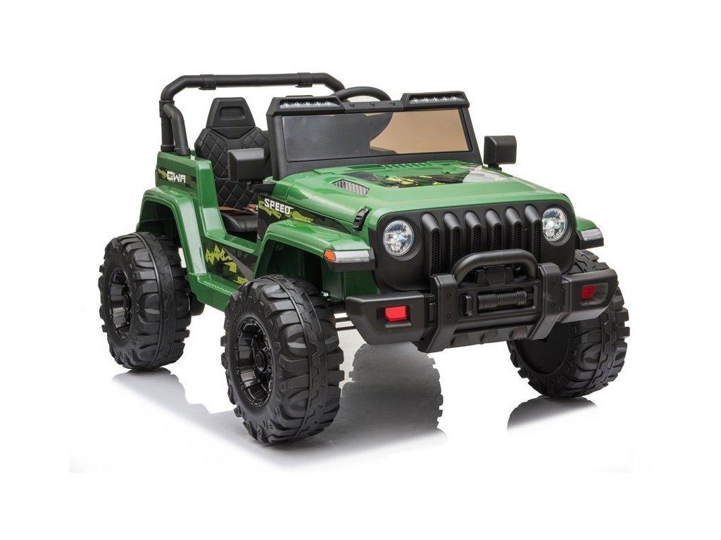 Elektrické auto Jeep Wran CH9956 Zelené