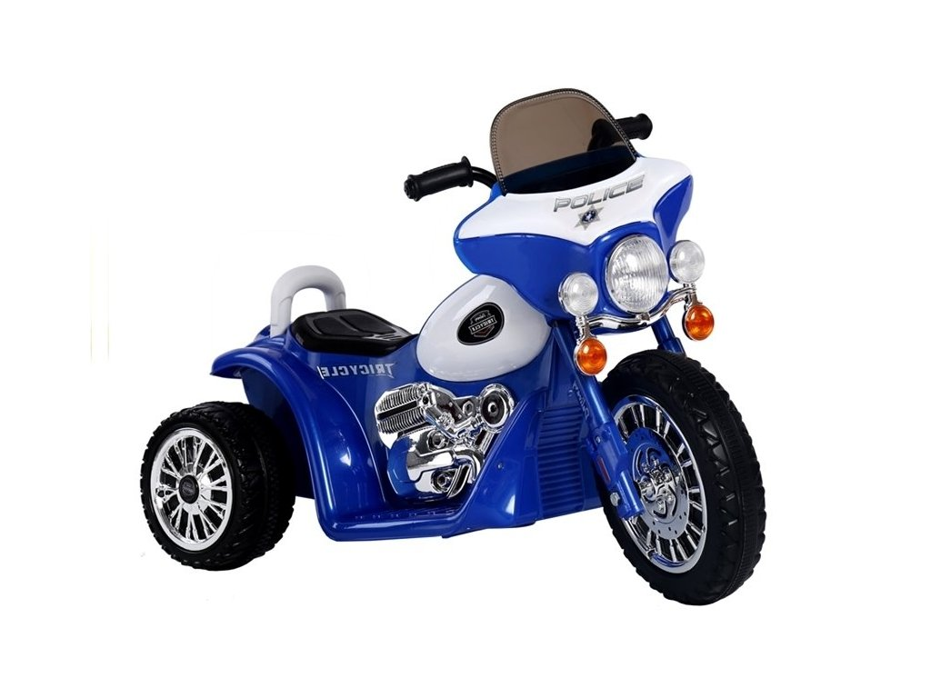 Elektrická motorka Chopper modrý malypretekar modrá